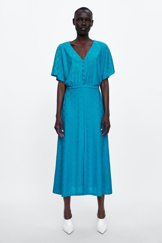 short-sleeve dresses for work: Zara