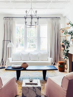 Dainty With an Edge: 7 Pastel Living Rooms to Copy