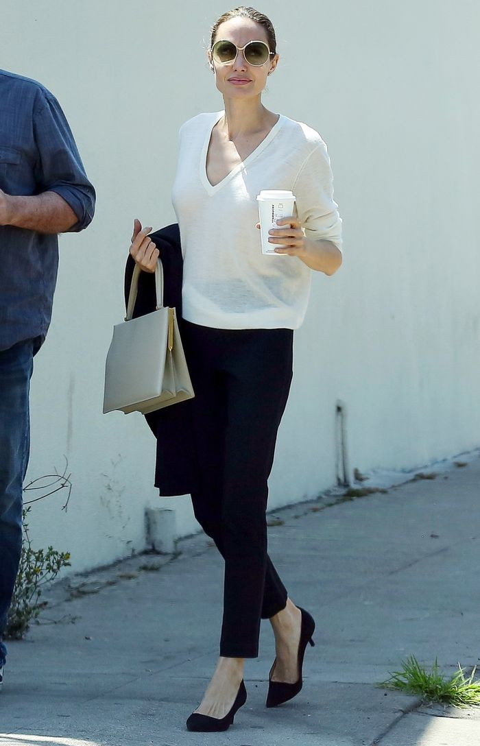 Angelina Jolie Kitten Heels