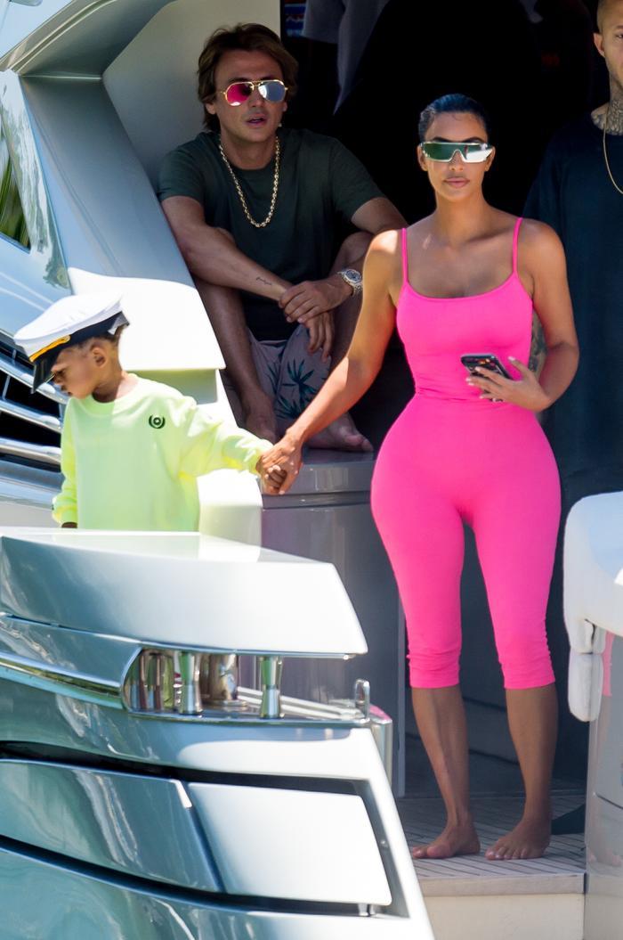 Kim Kardashian Pink Outfit