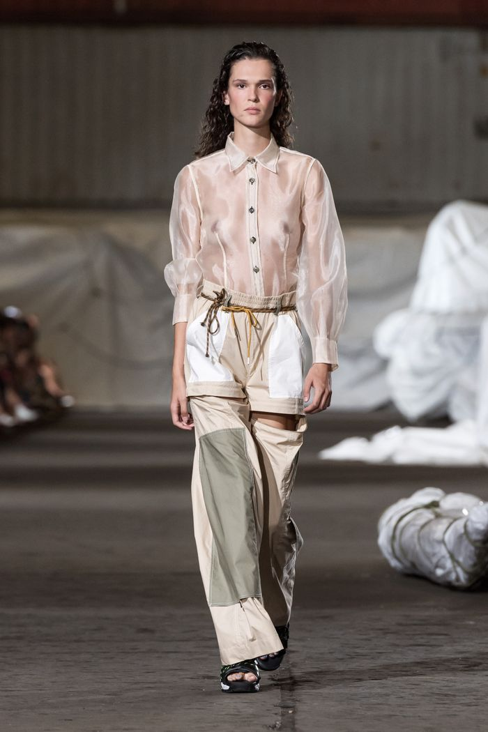 Copenhagen Fashion Week Spring Summer 2019 — Ganni Sheer Shirt