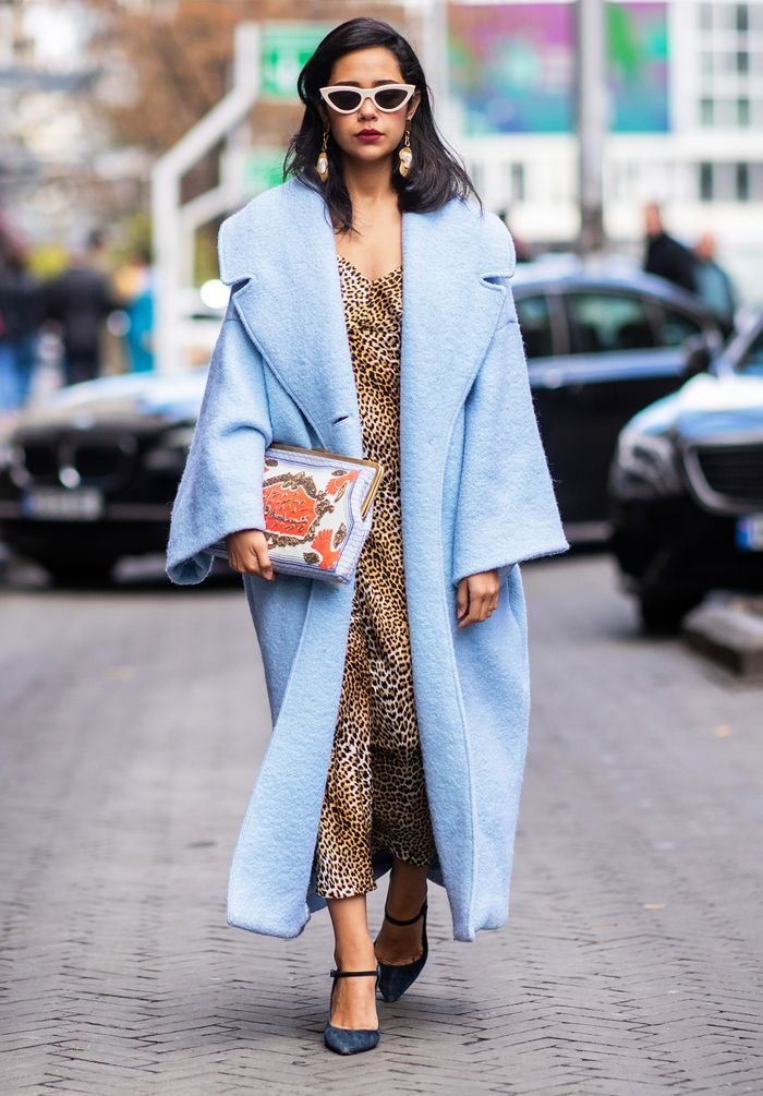 How to wear blue: coat