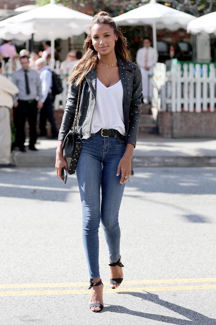Jasmine Tookes skinny jeans