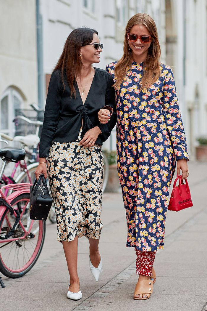 Scandi outfits: Trine Kjær in printed separates