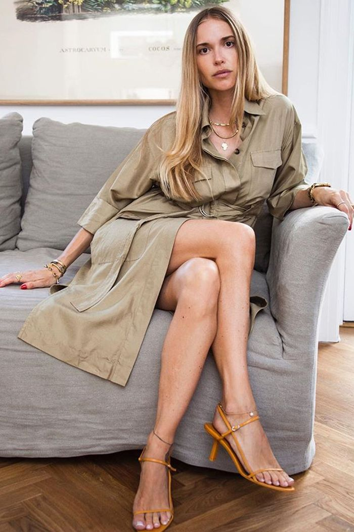 Best autumn high-street dresses: Pernille Teisbaek wearing safari dress
