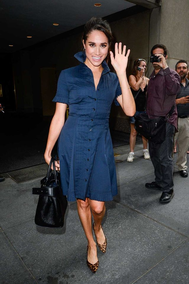 Meghan Markle in Denim Dress
