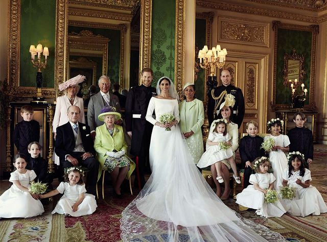 Meghan Markle's royal wedding portrait.