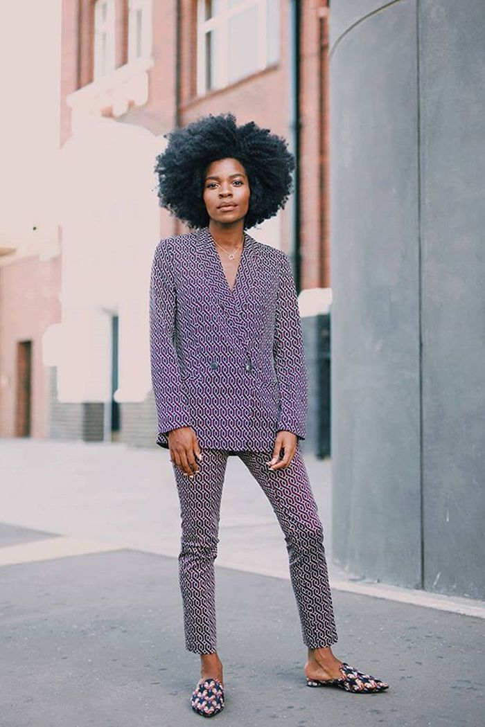 What are mules: Freddie Harrel wearing H&M suit and mules