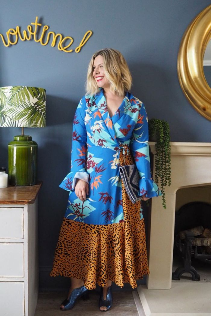 Erica Davies style: Erica wears ASOS printed maxi dress