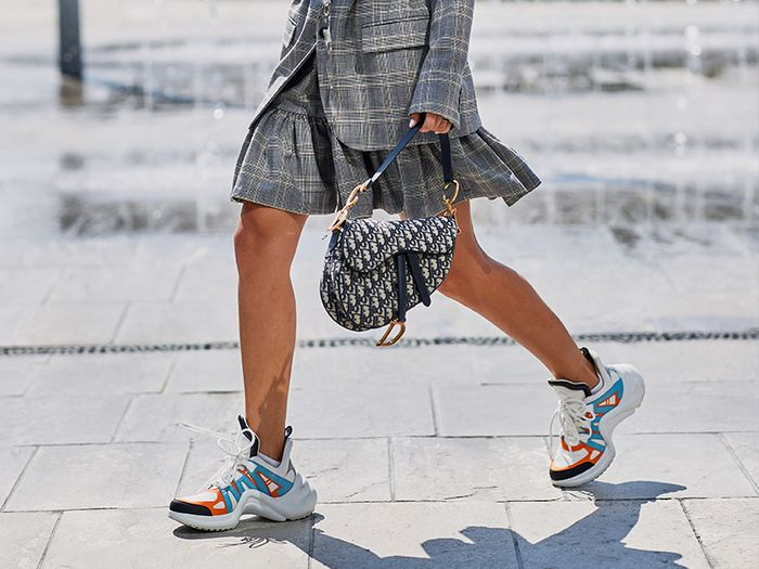 Louis Vuitton Sneakers and a Dior Bag