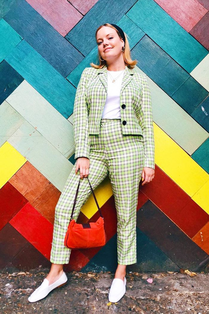 ASOS autumn winter 2018: Lotte Williams wearing ASOS checked suit