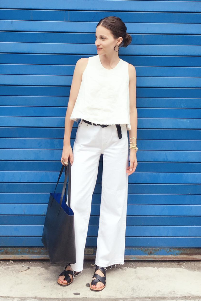 wide-leg-jean outfits for fall: boxy top