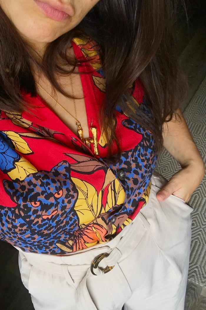 Best Topman buys: Hannah Almassi wears Topman shirt and Céline necklace