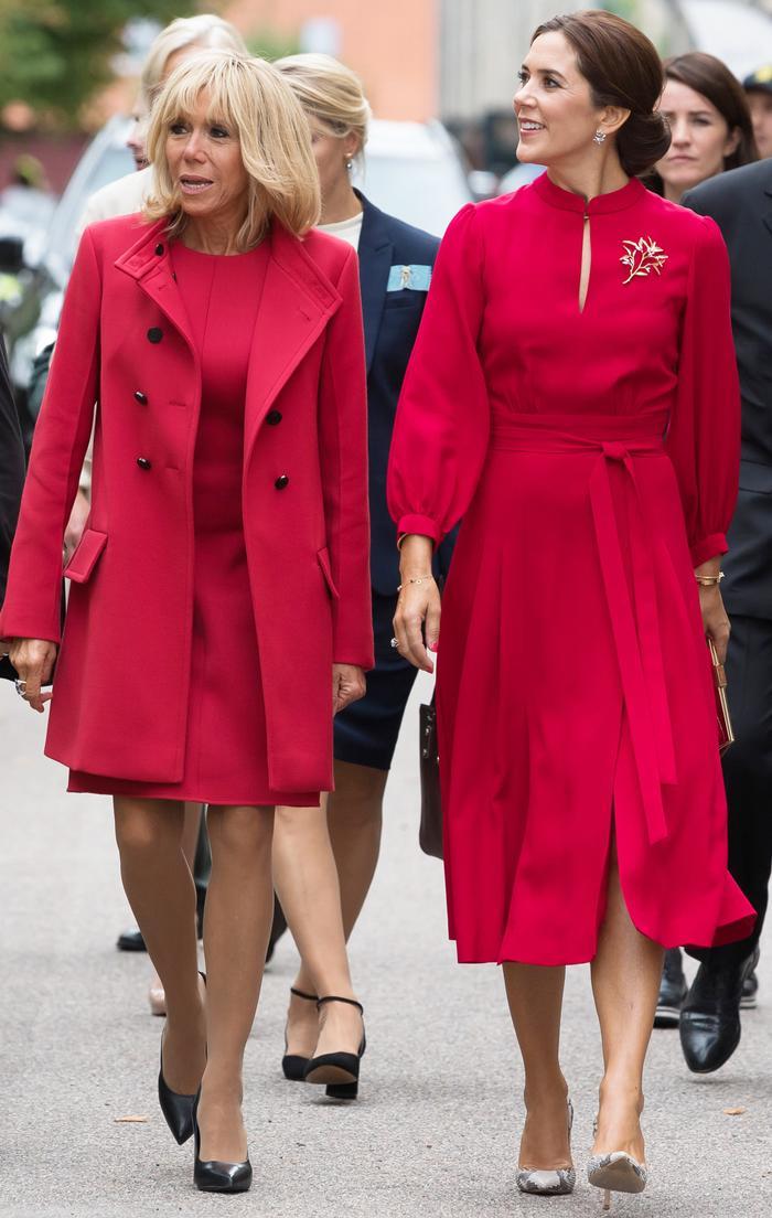 Brigitte Macron and Princess Mary of Denmark
