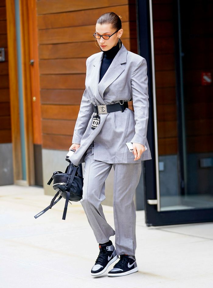 Bella Hadid Street Style Suits