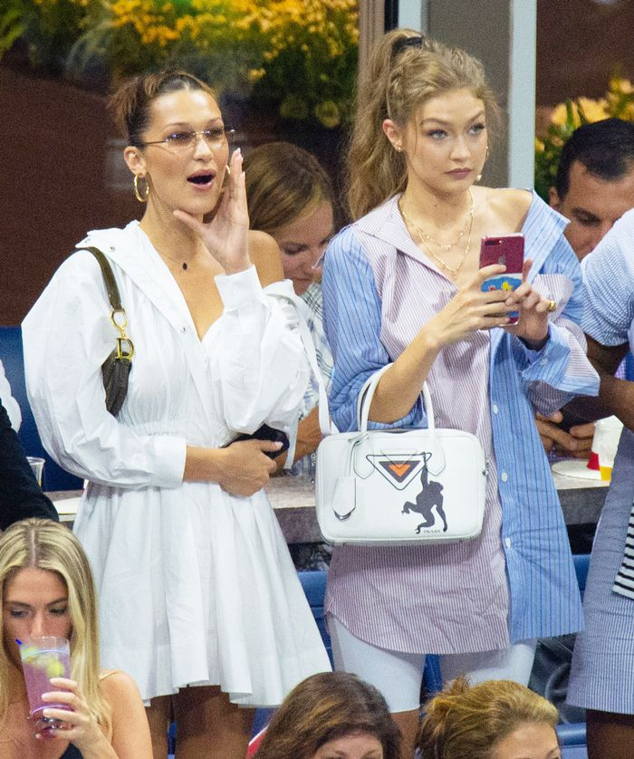 Gigi and Bella Hadid at the U.S. Open