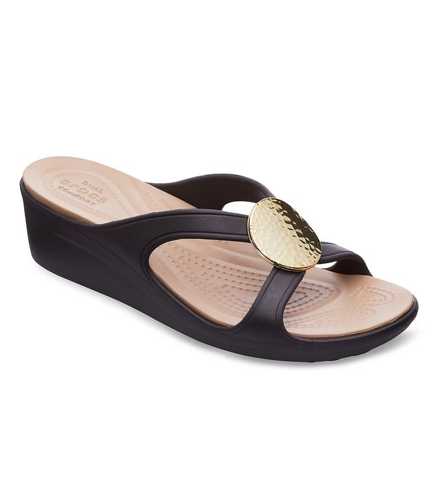 Crocs Sanrah Hammered Circle Wedges