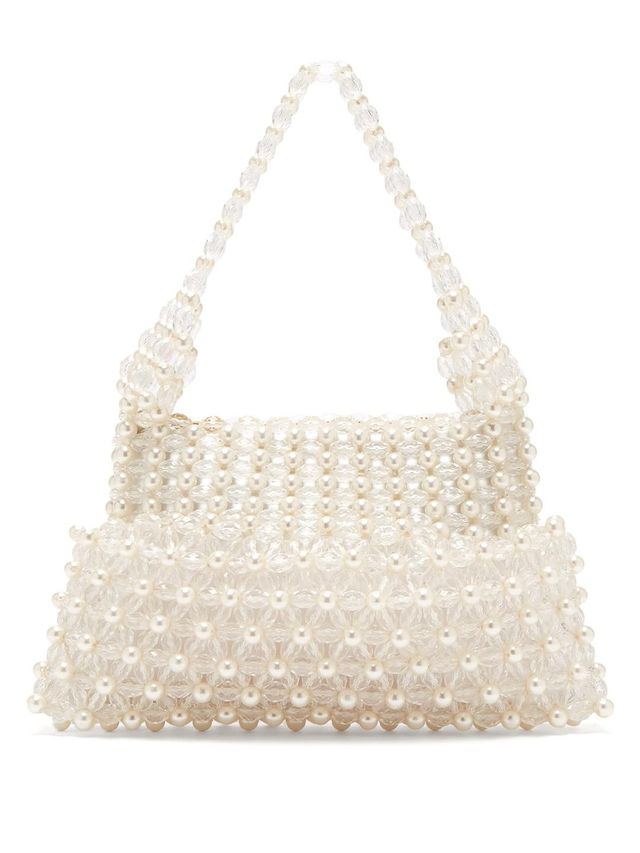 Quinn faux-pearl embellished clutch