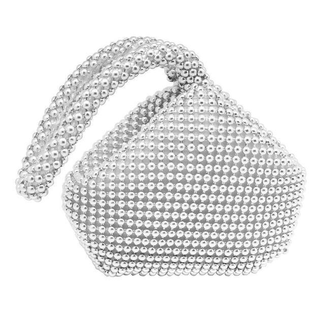 Hysagtek Bling Sequins Zipper Pouch Wedding Engagement Evening Bag Purse