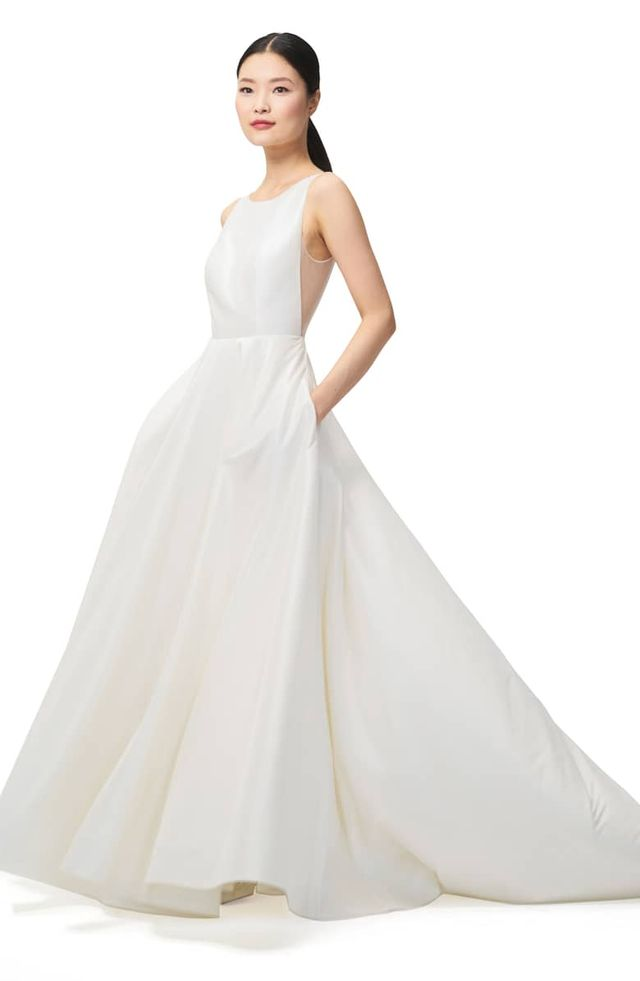 how to fly with a wedding dress