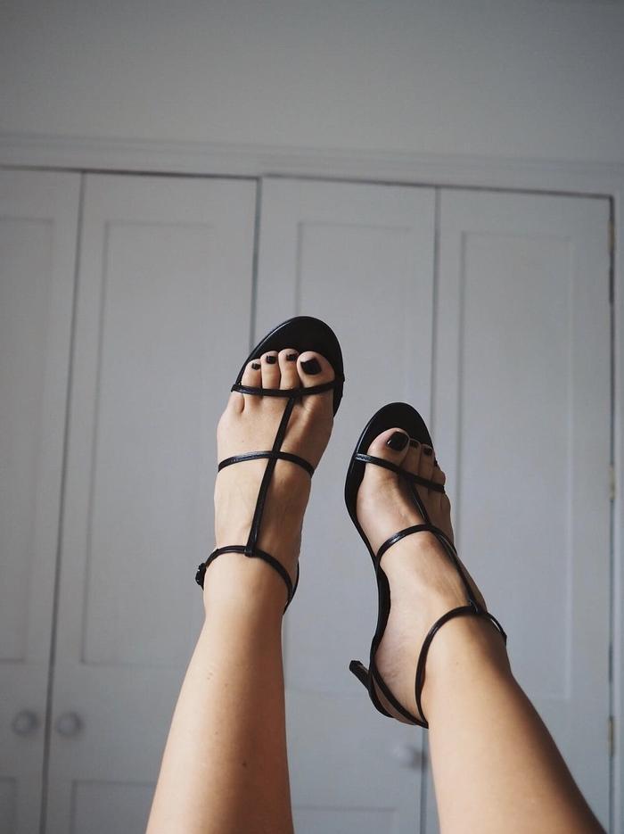 Zara's Black Strappy Sandals Are