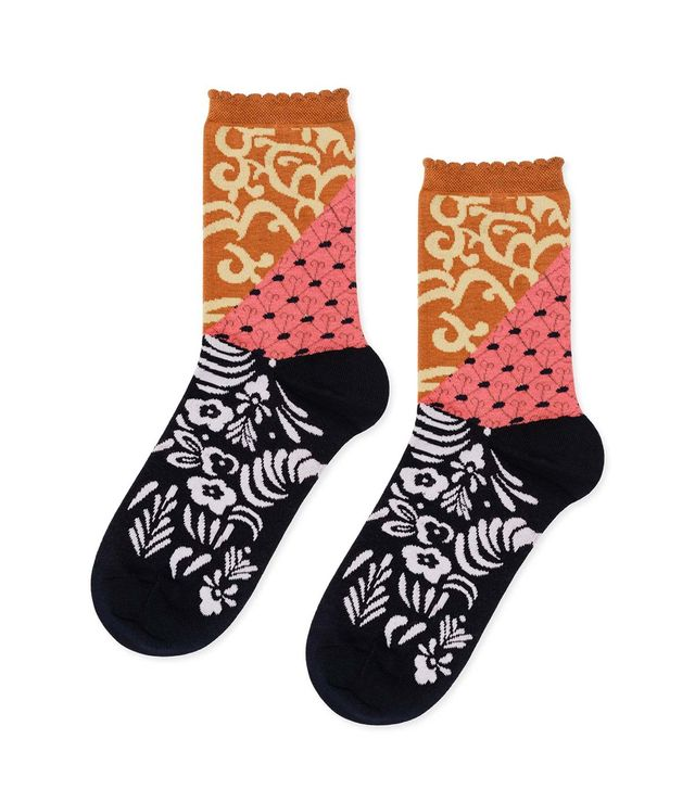 Hansel From Basel Patchwork Crew Sock