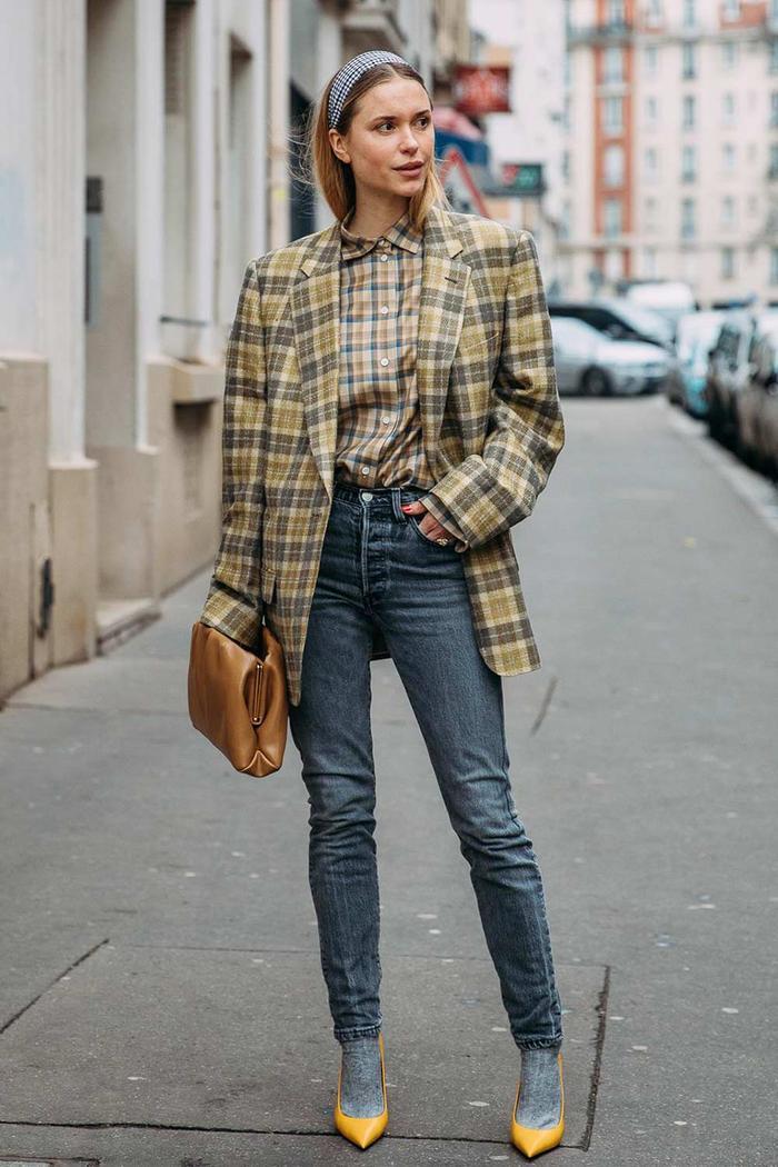 Plaid Blazer and Shirt