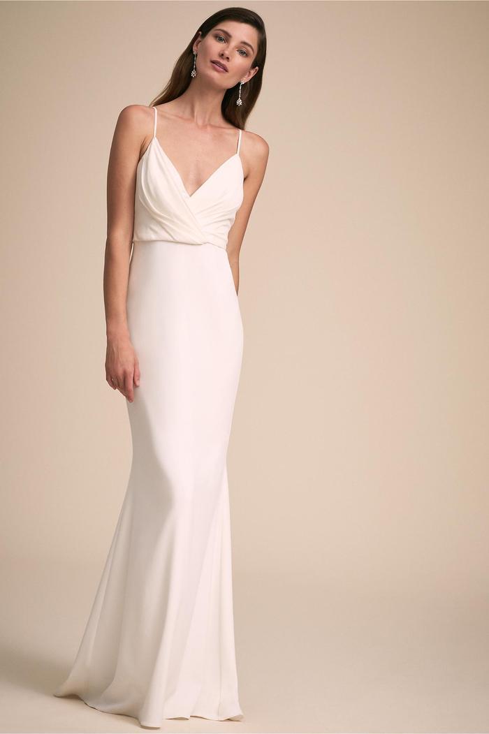 25 Slip Wedding Dresses For The Minimal