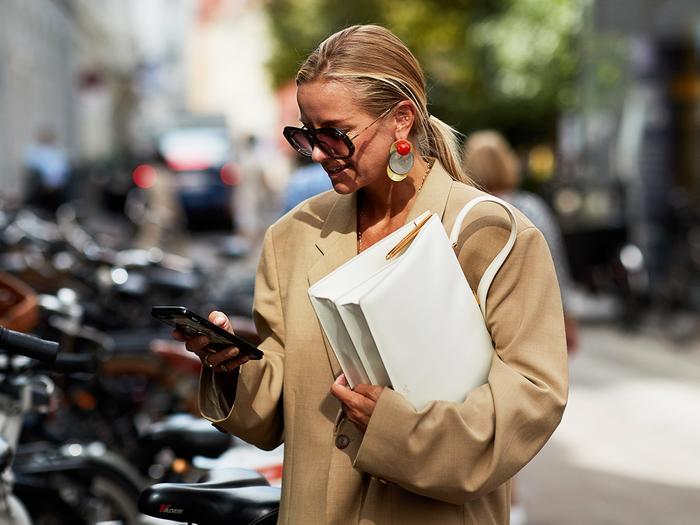 Oversize blazer at Copenhagen Fashion Week