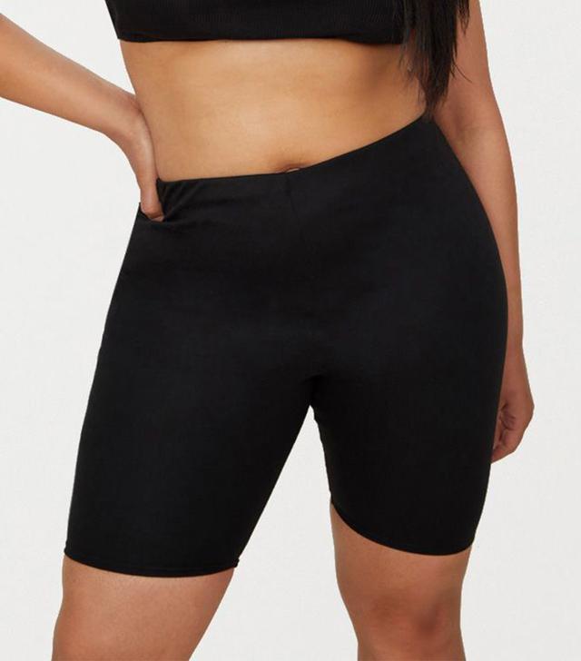 Pretty Little Thing Plus Black Second Skin Cycling Shorts