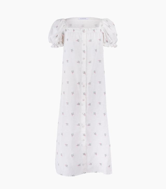 Sleeper Brigitte Flower Print Maxi Dress