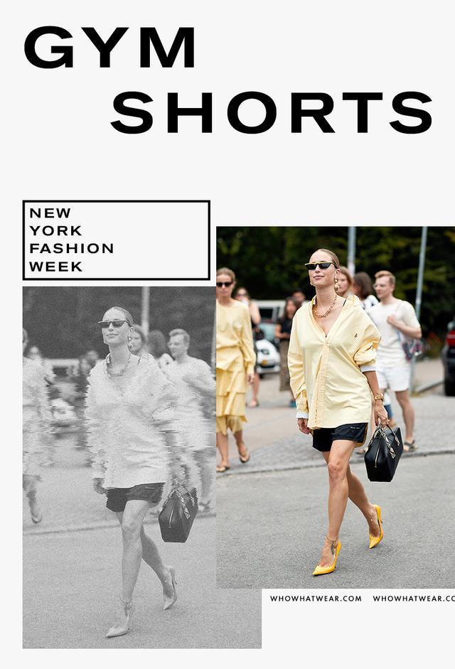 Gym shorts fall trend