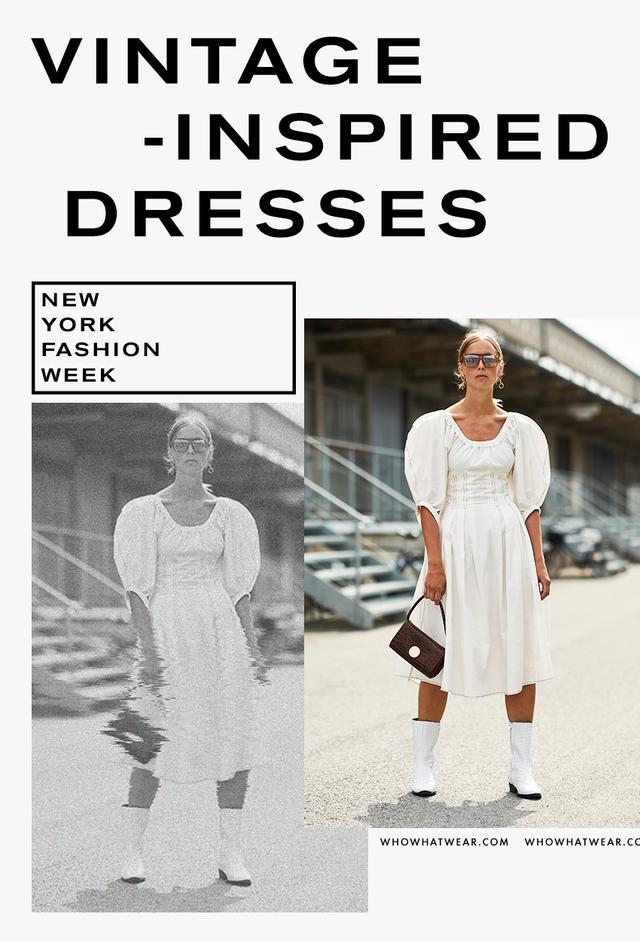 Puff sleeve dresses street style