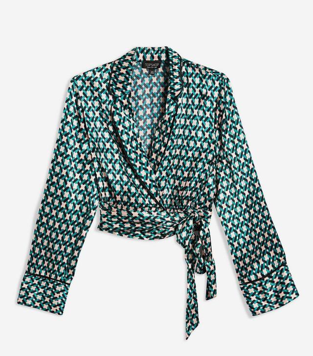 Geometric Print Pyjama Top