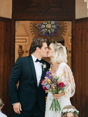 An Insta-Famous French Girl Got Married in the Chicest Boho Wedding Dress