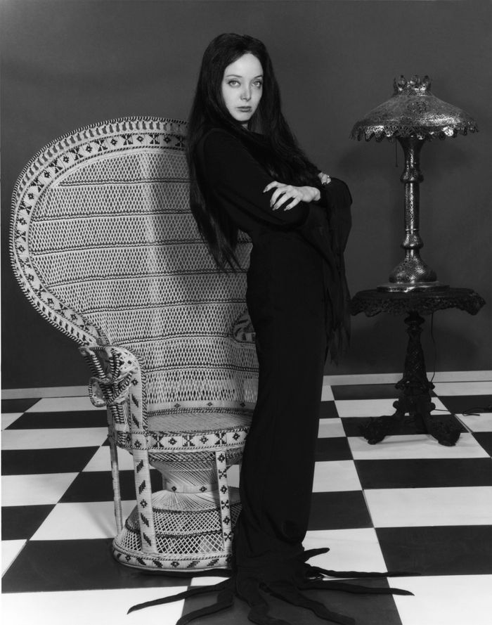 Morticia Addams: Halloween costumes for dark hair