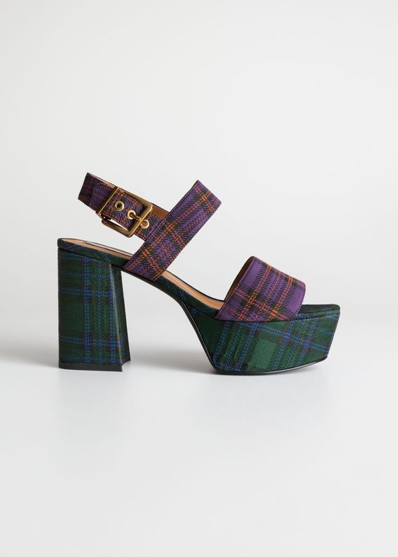 maximalist shoes with duo plaid