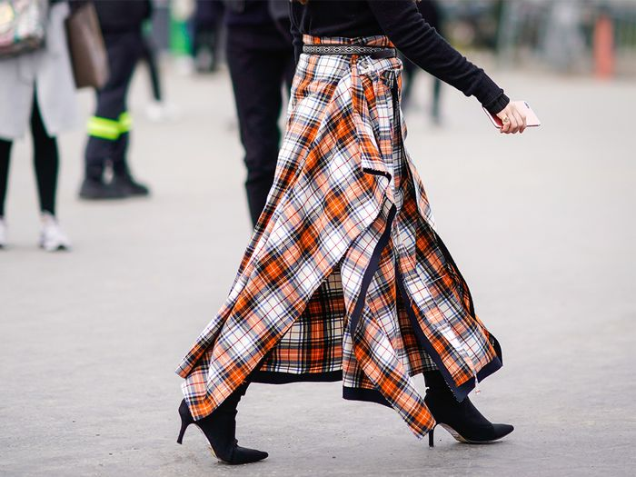 Ankle Boots and Skirt Street Style