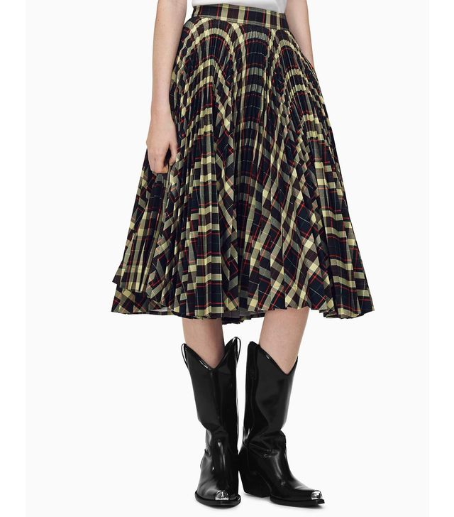 Calvin Klein Collection Pleated Skirt