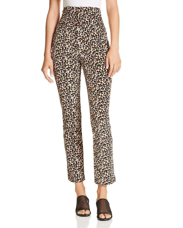 Leopard-Printed Velour Pants
