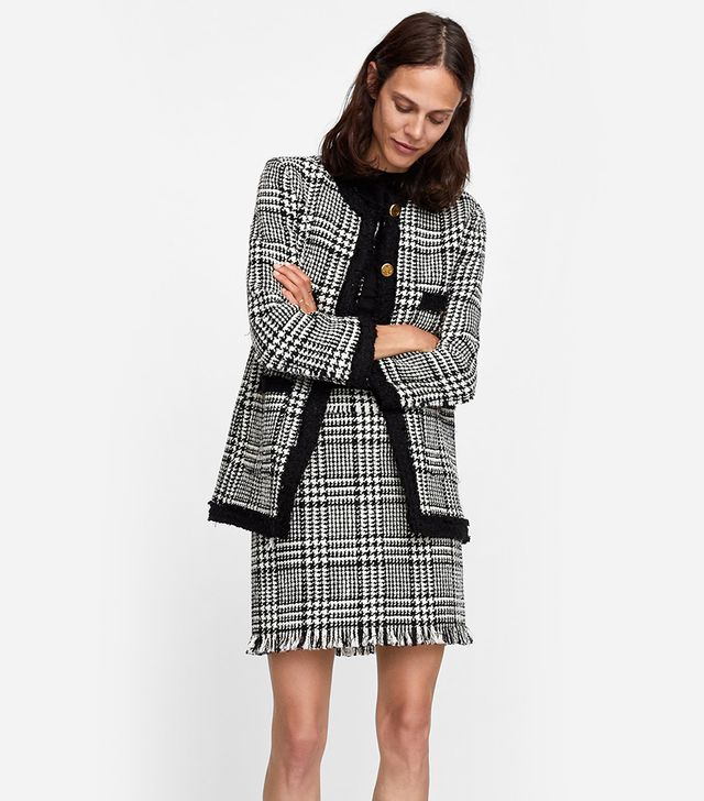 Zara Plaid Mini Skirt