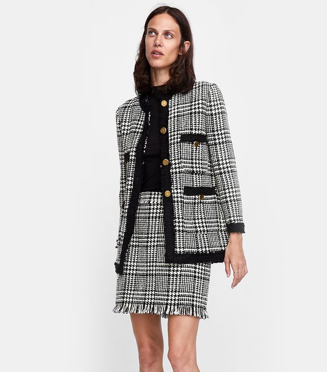 Zara Long Tweed Blazer