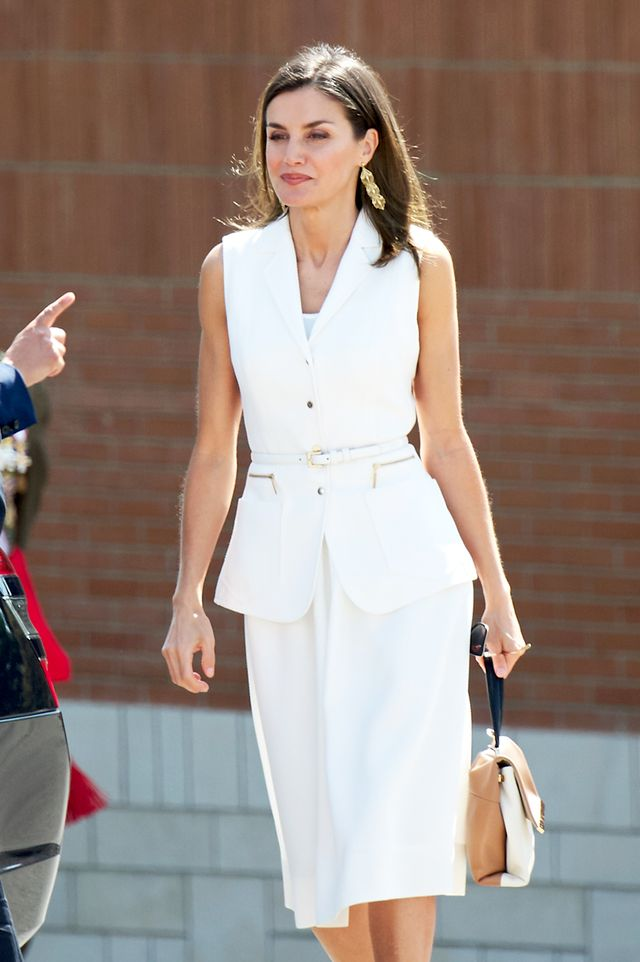 Queen Letizia skirt suit