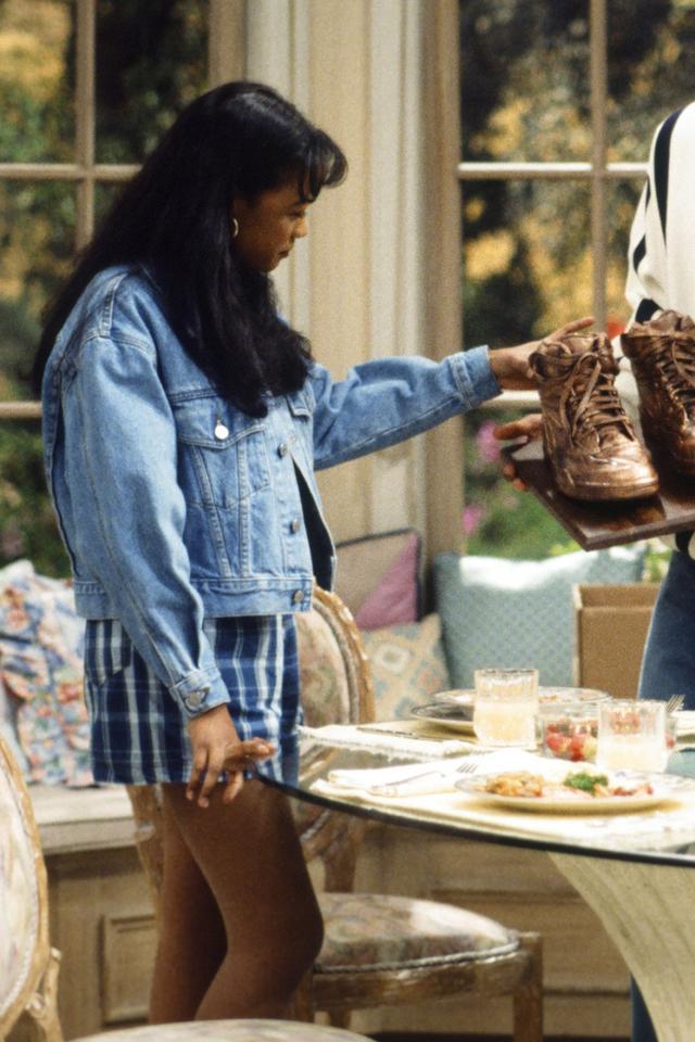 Ashley Banks denim outfit