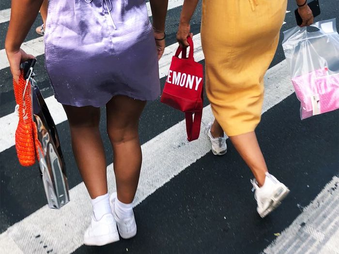 White sneakers with dresses