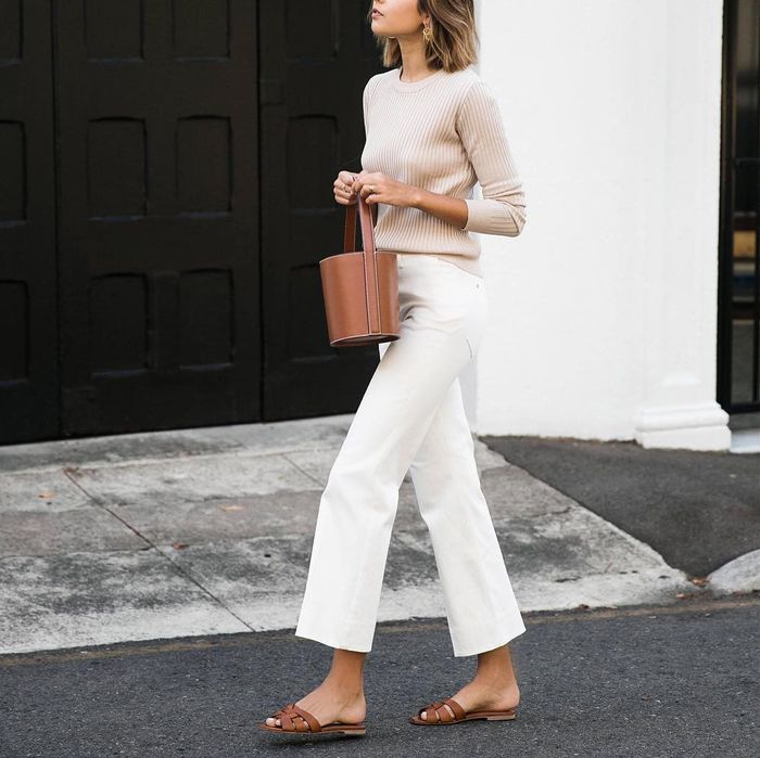 wide-leg-jean outfits for fall: yellow cami
