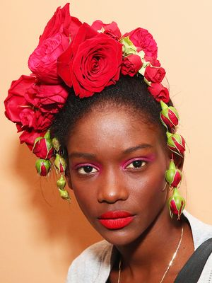 NYFW Is Dripping With Flowers—in Models' Hair