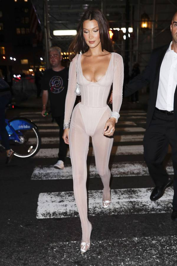 Bella Hadids 3 Naked Outfits Are So Different   Who What