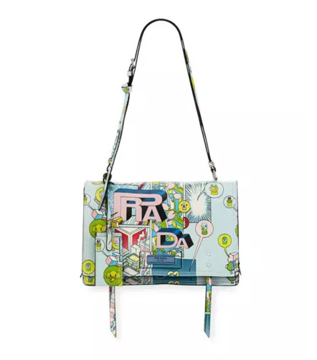 Prada Etiquette Medium Comic Print Shoulder Bag