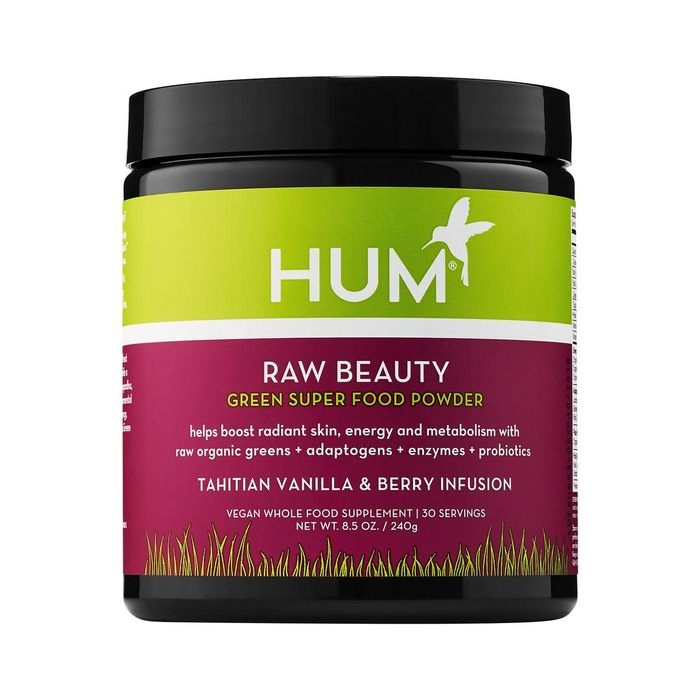 Raw Beauty Skin & Energy Green Superfood Powder - Tahitian Vanilla Berry Infusion 8.5 oz/ 240 g